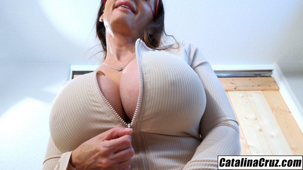 Catalina Cruz office fantasy with the busty secretary