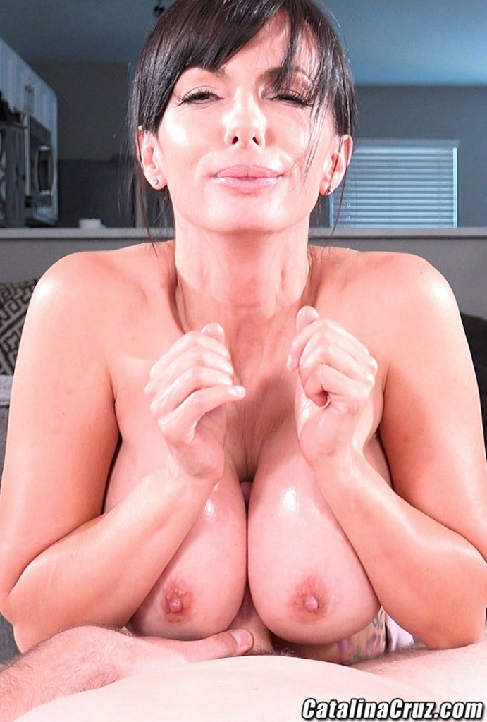Catalina Cruz big tits oiled pov