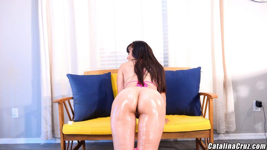 Catalina Cruz oiled ass